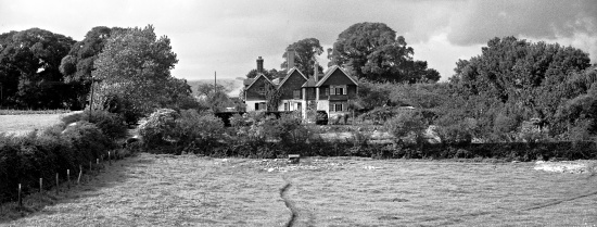 Tottington Manor in 1949, Marjorie Baker, Henfield Museum