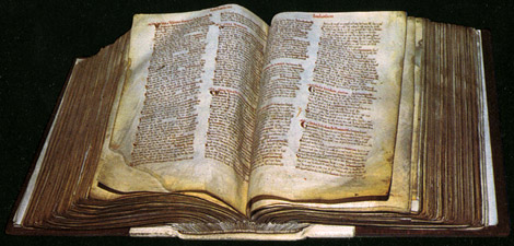 """Photograph of Great Domesday from the National Archives"""