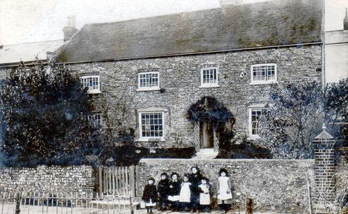 The Old Farmhouse, Fulking, in the 1900s