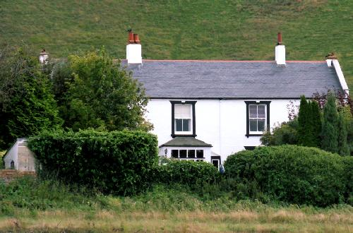 The Croft in 2012, viewed from the field behind the house
