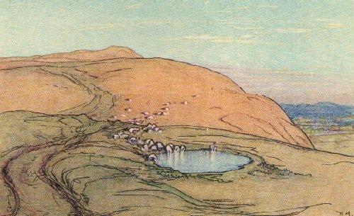 Donald Maxwell 1926 Sheep Drinking