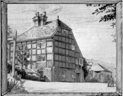 A drawing of Kent Cottage, date unknown