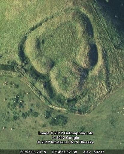 Google Earth image of Castle Ring