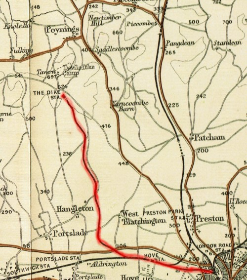 Dyke Railway map from the 1890s.
