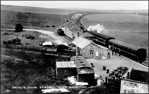 Dyke Station viewed from the north around 1911