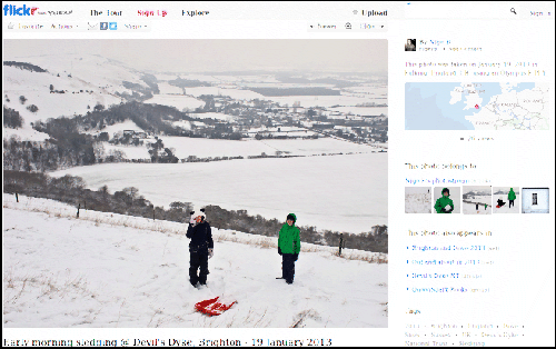 Early morning sledging