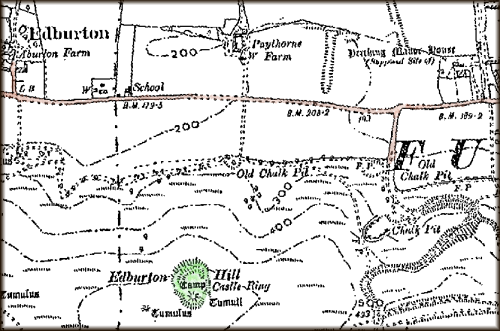 The location of Castle Ring