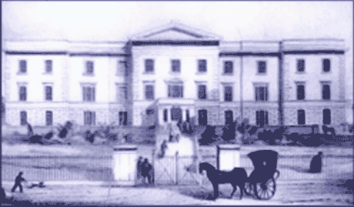 Sussex County Hospital as it was in the mid nineteenth century