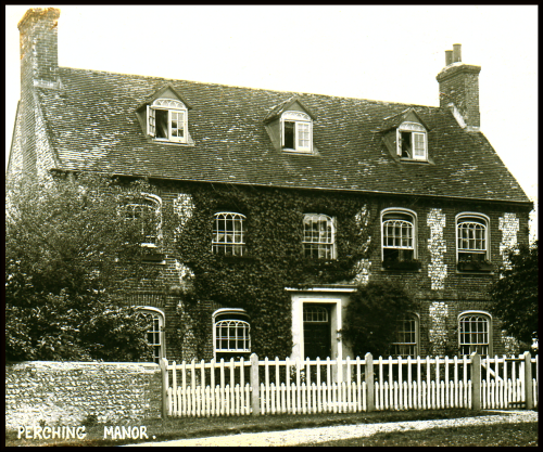 Perching Manor in the 1900s