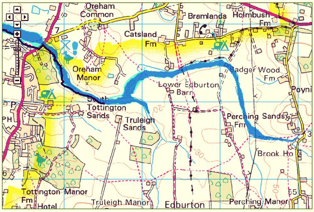 Risk of flooding area in Edburton and Fulking