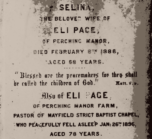 The grave of Selina and Eli Page
