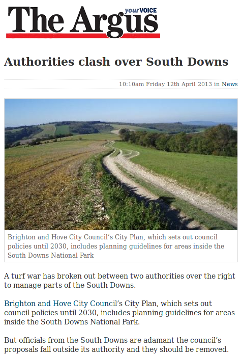 Authorities clash over South Downs