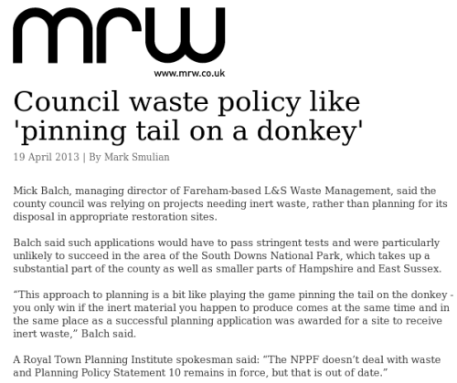 Council waste policy