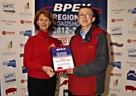 Henry Langridge receiving award