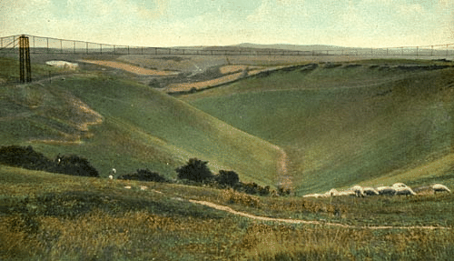 The aerial cableway across Devil's Dyke