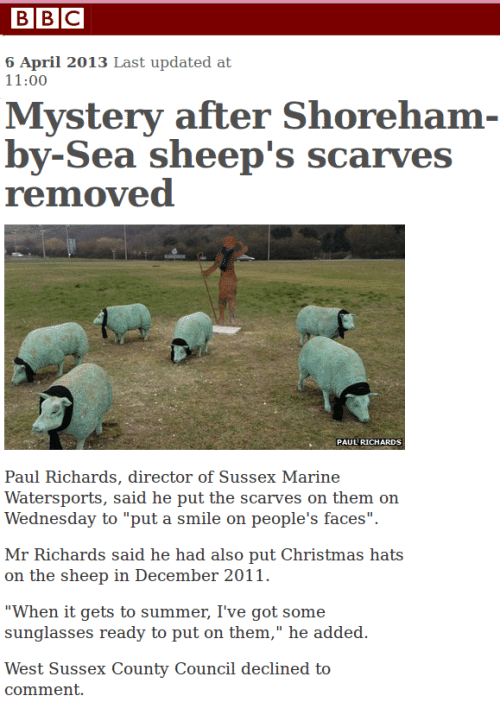 Plastic Sheep Mystery Deepens