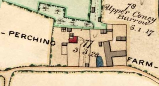 Perching Farm as it was in 1842