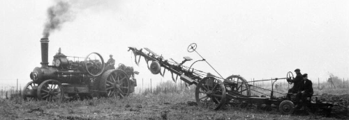 Steam drawn plough
