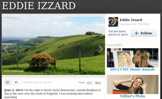 Eddie Izzard at the Dyke