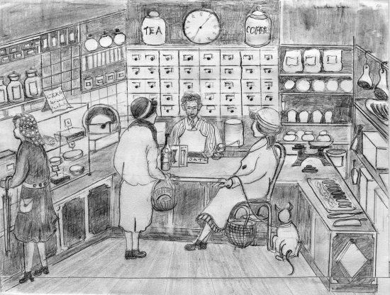 Inside Fulking Post Office Stores