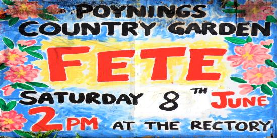 Poynings Country Garden Fete Saturday 8th June 2:00pm at The Rectory