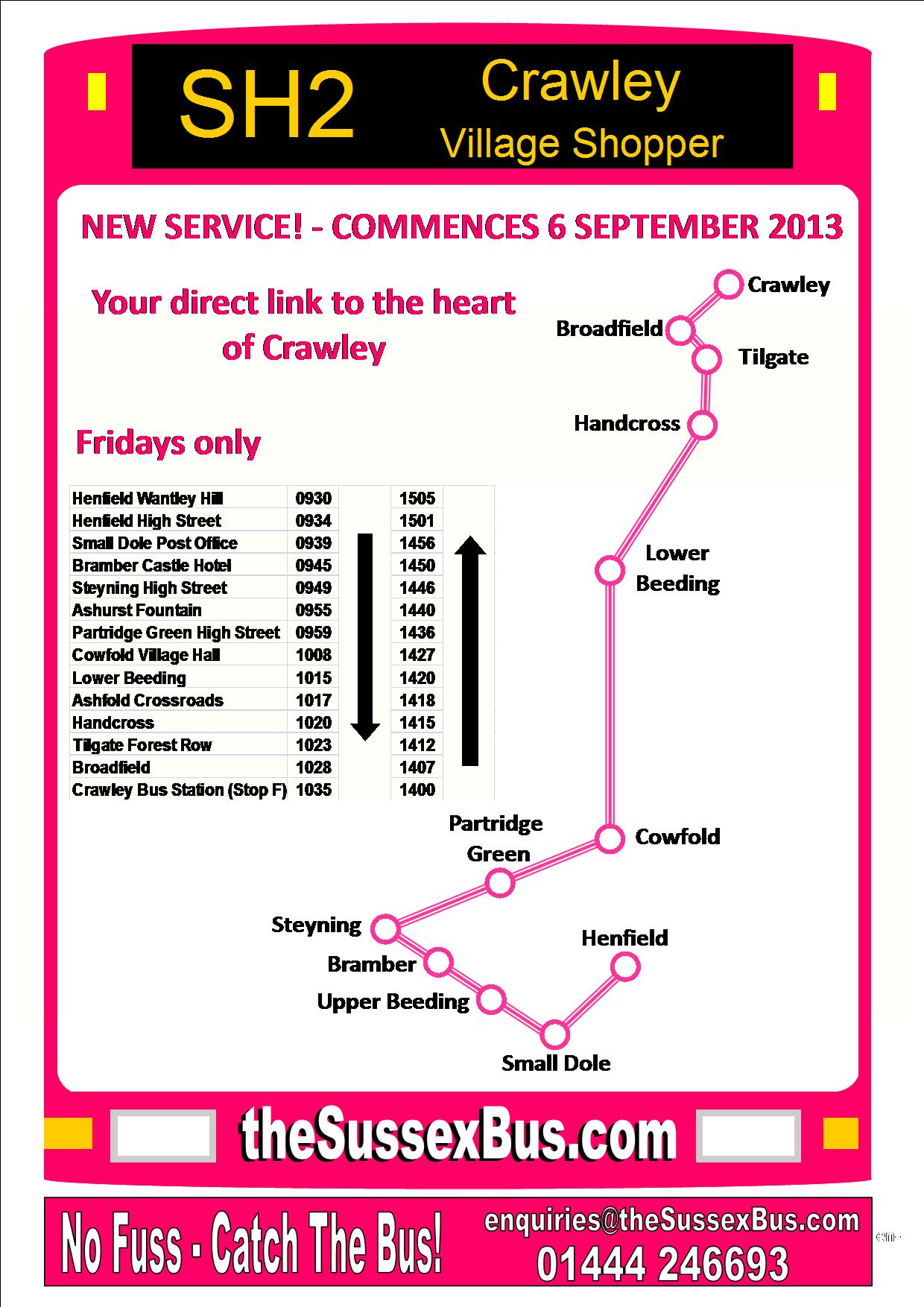 SH2 Timetable Small Dole Steyning Cowfold Crawley
