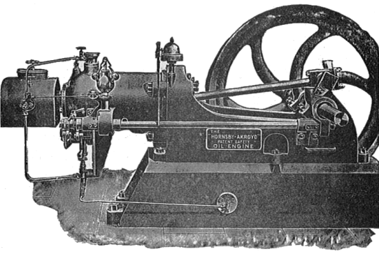 Hornsby Ackroyd oil engine 1904