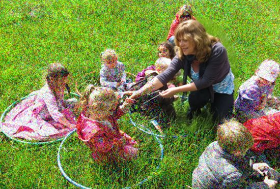 Anna Marie Kyriacou with nature tots