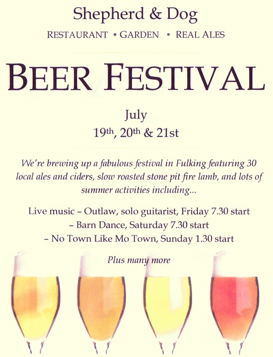 Beer Festival Shepherd & Dog Fulking July 2013