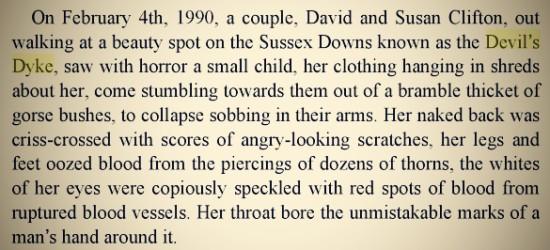 "February 4th 1990 Devil's Dyke (R & M Whittington-Egan ""Murder on File"")"
