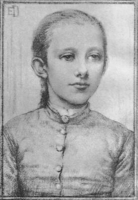 A portrait of Margaret Barber by Elinor Dowson