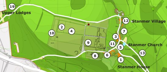 Map of Stanmer Park