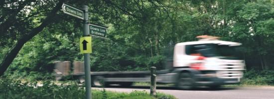 Bridleway crosses A283