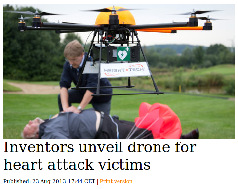 Defibrillator drone from The Local, 23 August 2013