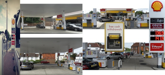 The Shell garage in Henfield 22 August 2013