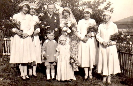 The Purdew wedding, 1 Septima Cottages, 1920s