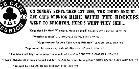 Ace Cafe Reunion Brighton Burn Up