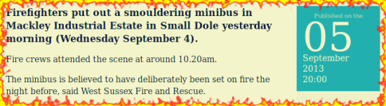 Arson in Small Dole