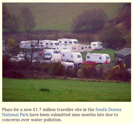 Traveller caravan site may pollute water supply