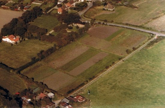 Hut Farm, Fulking c1980, aerial photo by Joe Lancaster