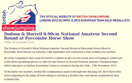 Pyecombe Horse Show