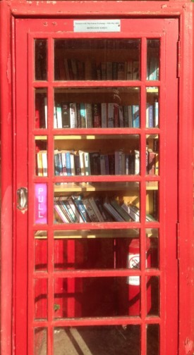 Telephone Box used as a book exchange