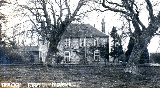 Truleigh Manor Farmhouse, Edburton, in the early 1900s