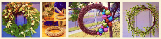 Christmas wreath DIY at Saddlescombe