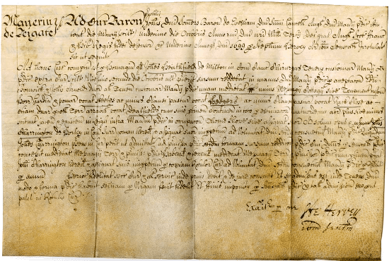 A copyhold deed from 1699 [University of Nottingham]
