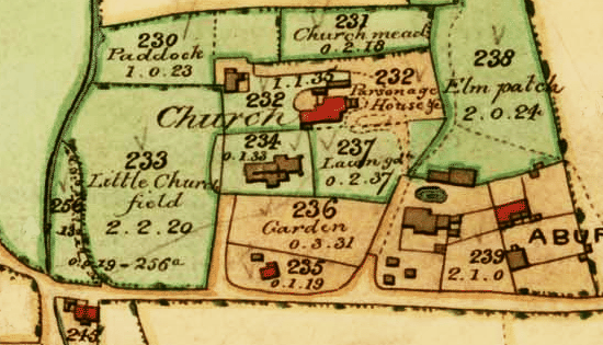 A detail from the Edburton tithe map, 1842