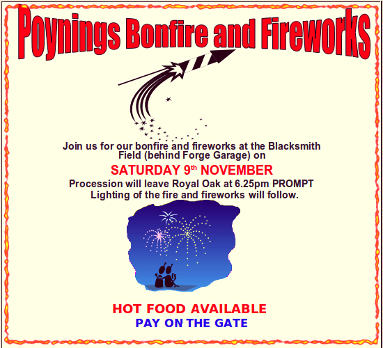 Poynings bonfire and fireworks 9th November 2013
