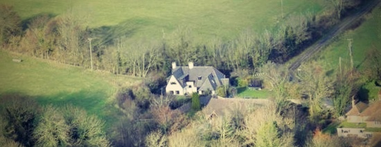 September Cottage viewed from the Downs
