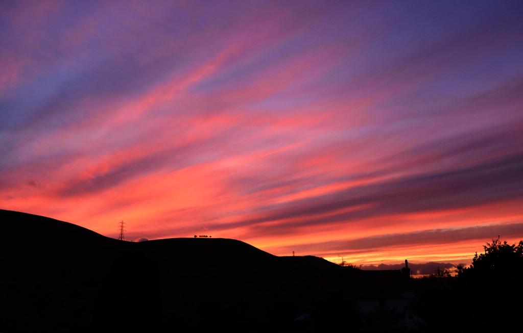 Fulking Sunset - 13th November 2013