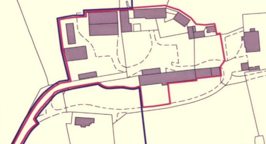 The conversion of Hazeley Farm into houses